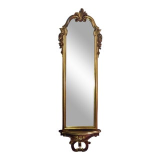Vintage Full Length Gold Gilt Wall Mirror