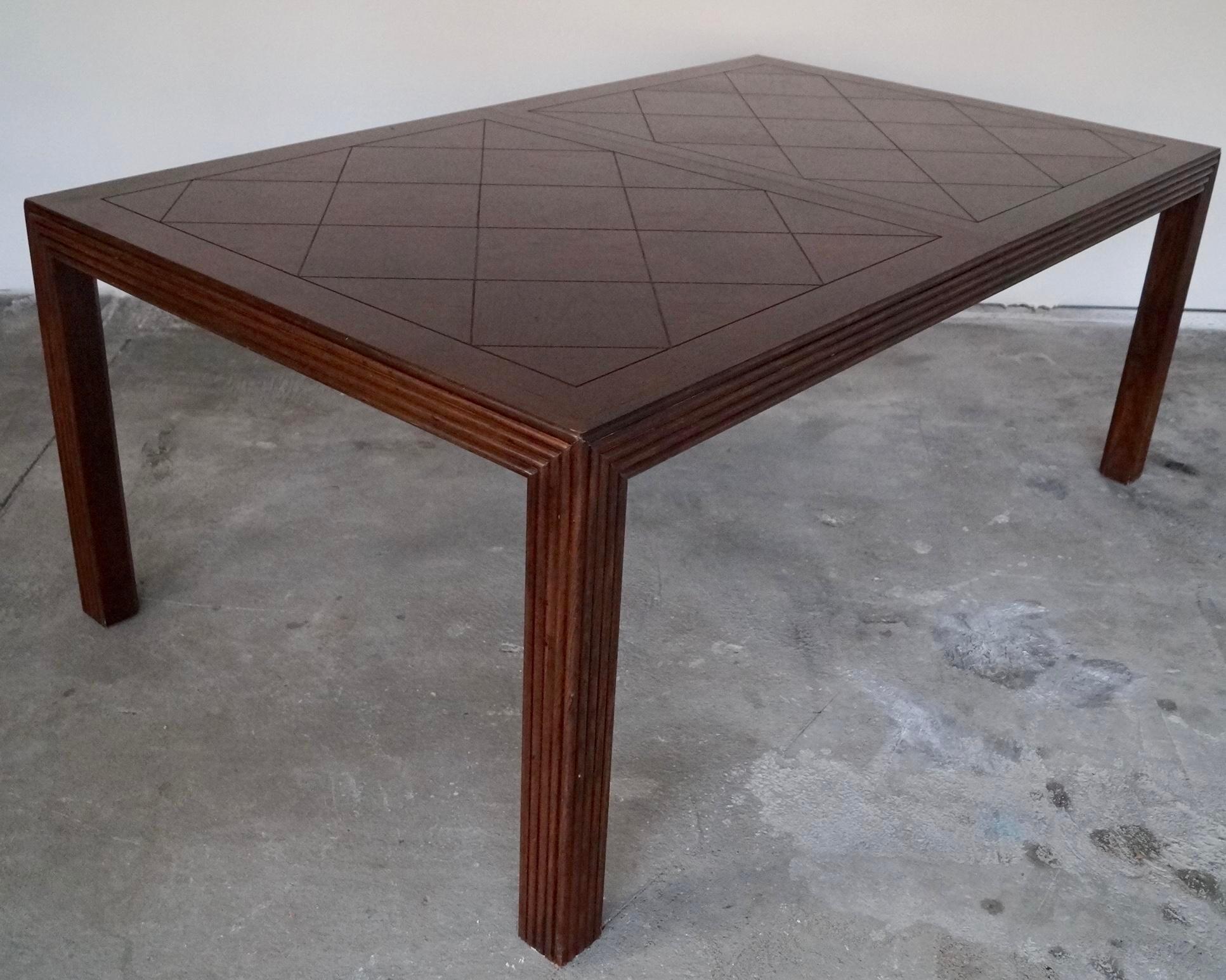 Vintage 1970s Parsons Parquet Top Dining Table by  : 35435351 dac1 4c45 ae72 8eda59ac79e5aspectfitampwidth640ampheight640 from www.chairish.com size 640 x 640 jpeg 43kB