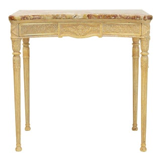 Louis XVI Style Marble-Top Console Table