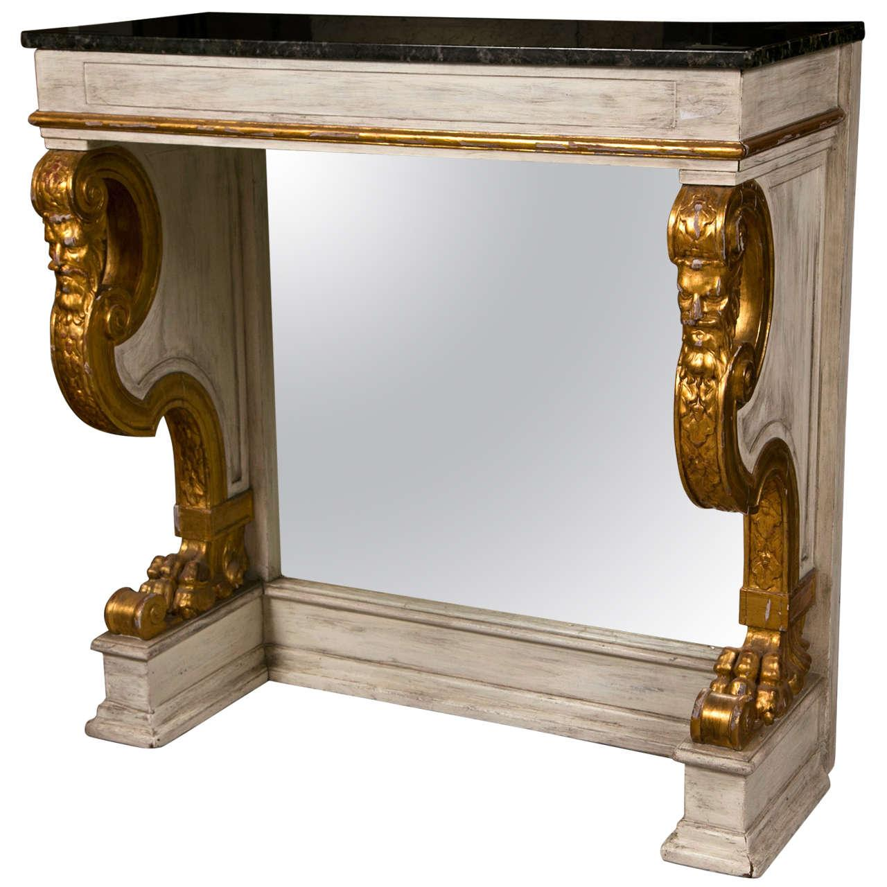 French Neoclassical Pier Console Table by Jansen - Image 1 of 9