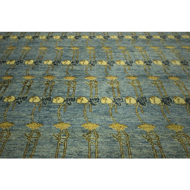 Super Gabbeh Blue Wool Rug - 9' x 12' - Image 8 of 10