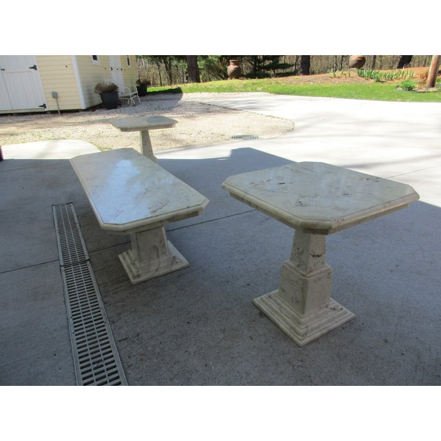 Image of Marble End Tables and Coffee Table - Set of 3