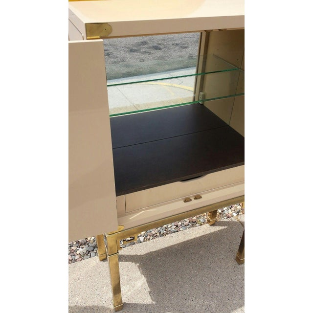 Mastercraft Brass and Lacquered Bar Cabinet - Image 5 of 6