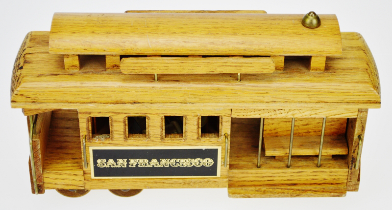 San Francisco Wooden Cable Car Music Box   Image 2 Of 10