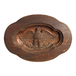 Carved Wooden Eagle Wall Hanging