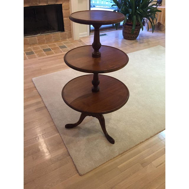 3-Tiered Butler Tripod Table - Image 6 of 8