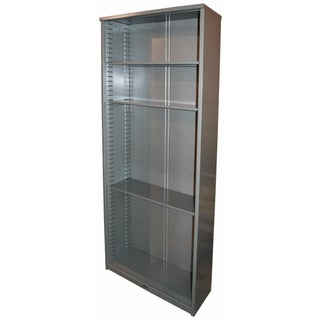 Industrial  Steel  Tall  Bookcase