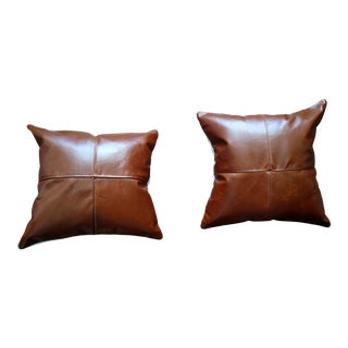 Leather Pillows - Set of 2