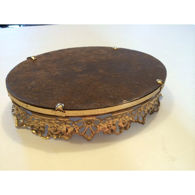 Image of Vintage Gold Mirrored Dresser or Bar Tray