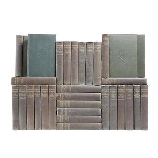 Charcoal & Gilt Harvard Classic Books - Set of 30