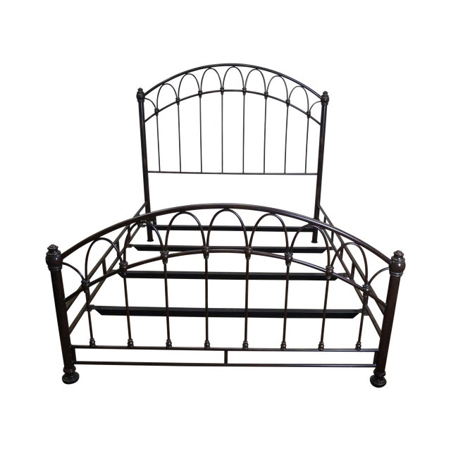Victorian Style Iron Queen Size Bed - Image 1 of 10
