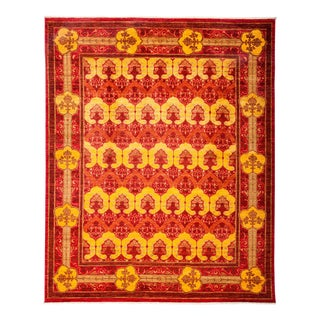 """Arts & Crafts Hand Knotted Area Rug - 8'1"""" X 9'9"""""""