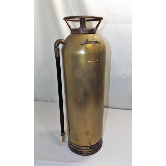 Image of Vintage Brass Industrial Fire Extinguisher