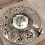 Image of Beige Starlight Rotary Dial Wall Phone