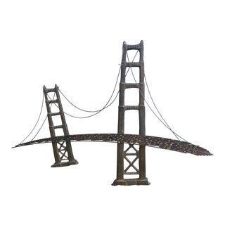 Vintage Golden Gate Bridge Brutalist Wall Art