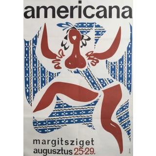 1965 Vintage Hungarian Summer Poster