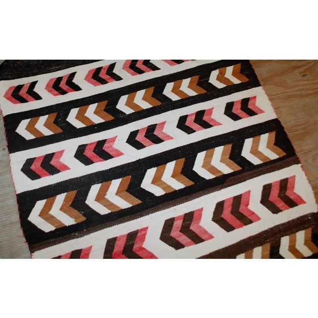 Antique Native American Navajo Baby Blanket Rug