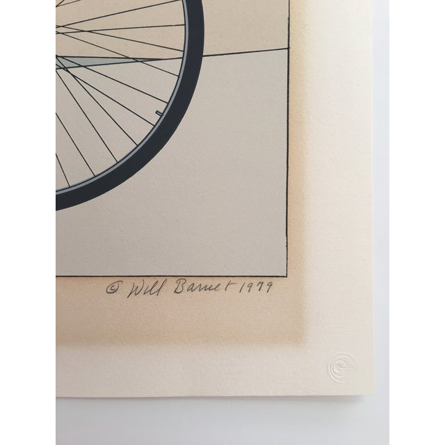 "Will Barnet ""Blue Bicycle"" Signed Serigraph - Image 7 of 11"