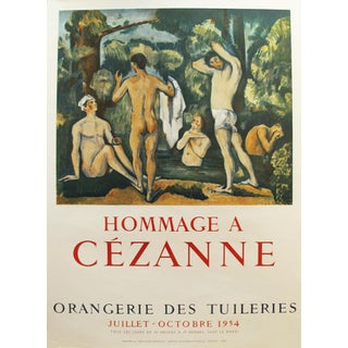 1954 Original French Exhibition Poster, Hommage a Paul Cezanne
