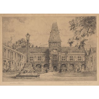 Wallace Hester Etching - Dulwich College c.1910