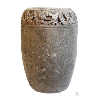 Carved Stone Garden Urn