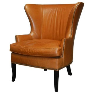 Mid-Century Style Leather Butterfly Wing Chair