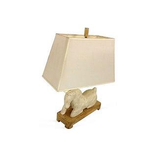 White Horse Table Lamp
