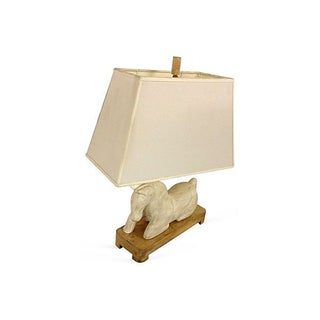 White Horse Table Lamp