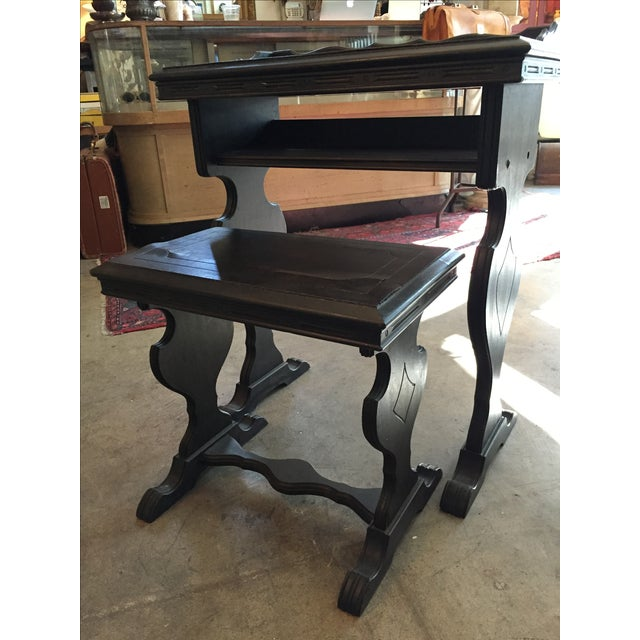 Vintage Writing Desk and Nesting Bench - Image 2 of 11