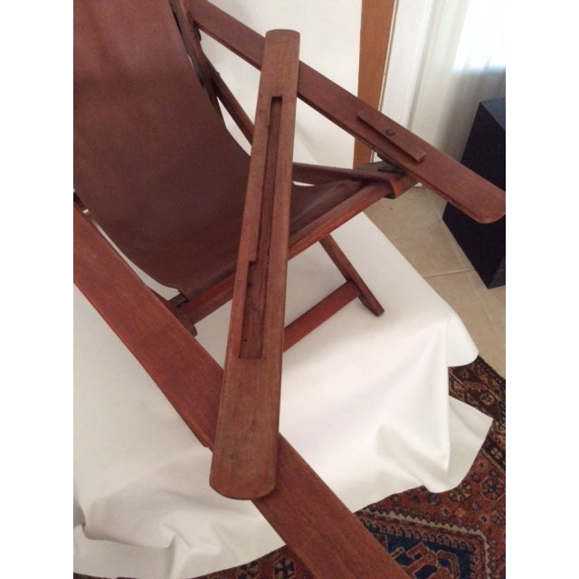 Antique Ocean Liner Folding Deck Chair - Image 8 of 11