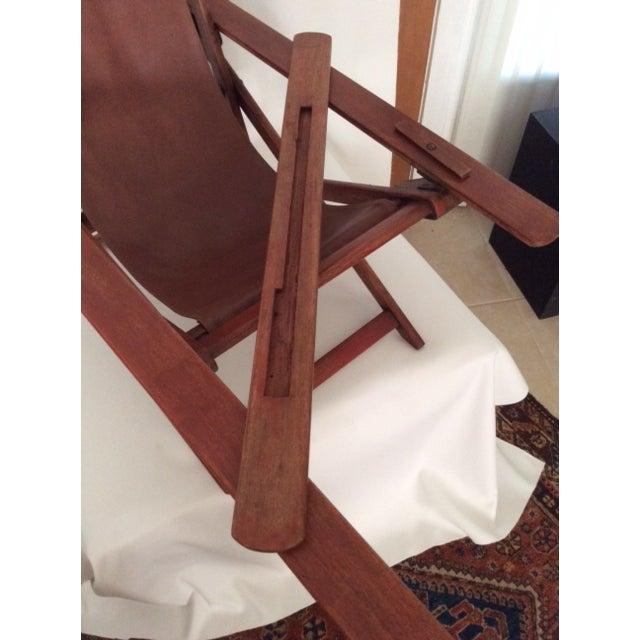 Image of Antique Ocean Liner Folding Deck Chair