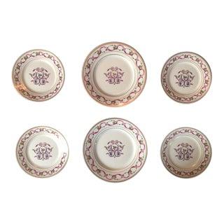 Richard Ginori' Rapallo Pattern Porcelain China - Set of 6