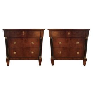 Century Furniture Neoclassical Mahogany Nightstands - A Pair