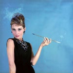 "Image of Audrey Hepburn as Holly Golightly in ""Breakfast at Tiffany's"" 1961 Print"