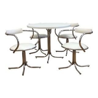 Vintage White and Chrome Dinette Set