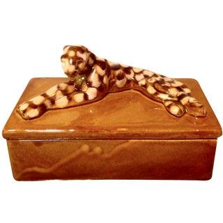 Mid-Century Leopard Lidded Box