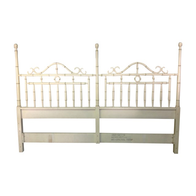 Faux Bamboo Headboard By Drexel - King Size - Image 1 of 6