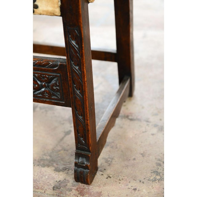 Spanish Renaissance -Carved Side Chairs -A Pair - Image 9 of 10