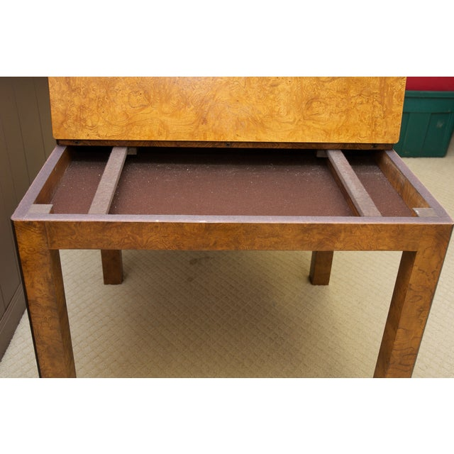 Burl Wood Fliptop Expandable Dining Table - Image 8 of 9