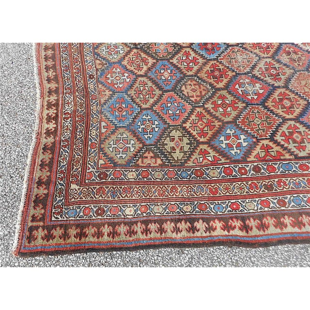 "Persian Tribal Rugs: Antique Persian Kurdish Tribal Rug - 5'1"" X 10'10"""