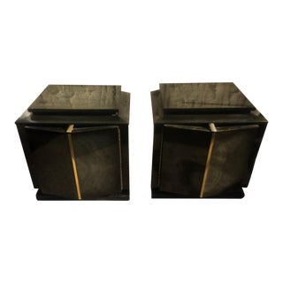 Art Deco Pointed Night Stands - A Pair