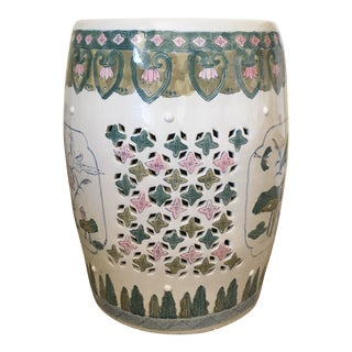 Chinoiserie Lillypad Garden Stool