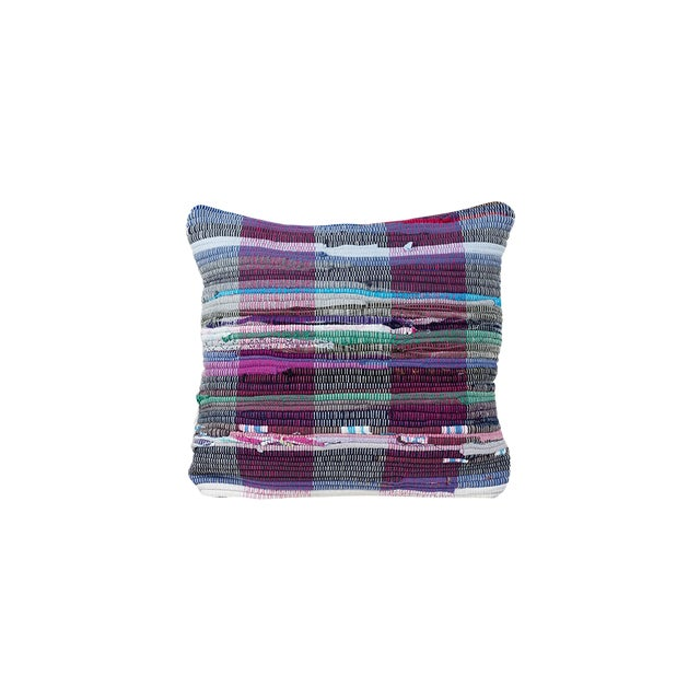 Handwoven Rag Rug Pillow - A Pair - Image 1 of 4
