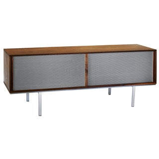 Symm Credenza with Perforated Metal Doors