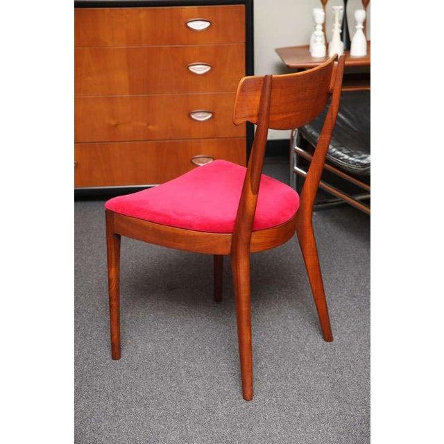 "Mid Century Modern 6 Drexel ""Declaration"" Line Walnut Dining Chairs. 1950s - Image 5 of 9"