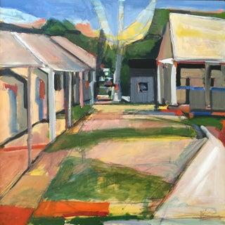 Saratoga Paddock - Oil Painting by Heidi Lanino