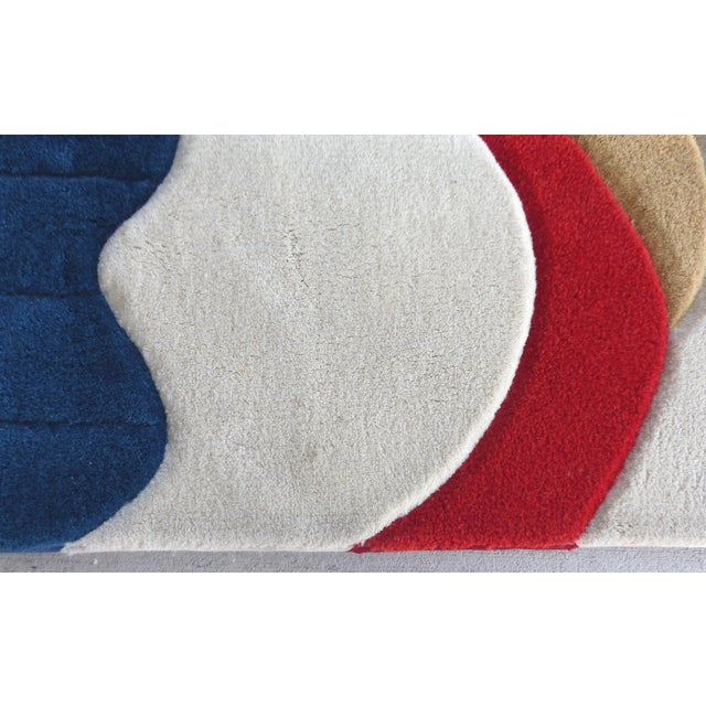 """Image of Sculpted Abstract Area Rug - 5'1"""" X 6'"""