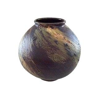1970's Danish Round Pottery Vase