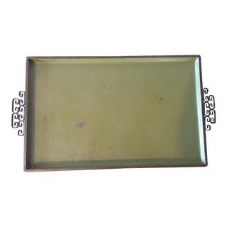 Green Enameled Vanity or Serving Tray
