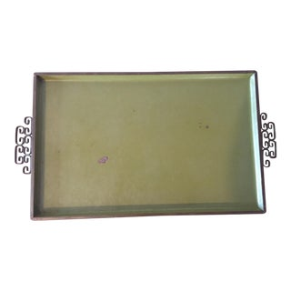 Green Enameled Vanity or Serving Tray